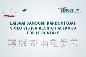 Laisvai samdomi darbuotojai siūlo vis įvairesnių paslaugų portale FDP.LT